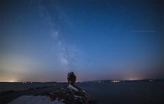 Causeway under the stars (LEXPIX_) Tags: milky way light pollution urban star starfield colchester causeway lake champlain night burlington vermont nikon d810 nikkor f28 vr ii lexpix