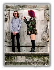 The Interview (Fermat48) Tags: victoriamonument derbysquare liverpool uk teenagers liverpoolloves2016 youth
