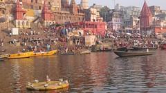 VaranasiSunrise096 (tjabeljan) Tags: india benares varanasi ghat ganges hindu cremation bath bathing pelgrim
