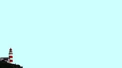 No m'hi veig (lluiscn) Tags: silleiro far faro lighthouse baiona galcia galiza pontevedra cel sky cielo roig rojo azul blue blanc blau immensitat mar sea muntanya acantilado cliff penyasegat