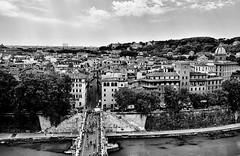 Camera con vista (Assunta Di Giura) Tags: blackandwhite roma fiume ponte persone panorama