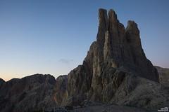 Sunset on Vajolet Towers (simone781) Tags: mountains dolomiti dokomites vajolet torri enrosadira catinaccio rosengarten