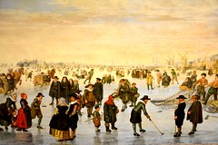 Canada 2016  Toronto  Art Gallery of Ontario  Skaters on the Amstel (Michiel2005) Tags: amstel ice ijs winter painting schilderij art kunst ago artgalleryofontario toronto canada ontario