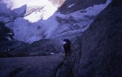 Jean-Michel Seconding Steep Cracks, Lower Face (andywalker1) Tags: andrewwalker americandirect dru petitdru chamonix alps alpineclimbing