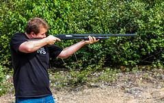 Decent shot! (skylarhodder) Tags: hunting boom target practice shotgun