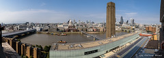 180 degree view from the new Tate Modern Switch House 10th floor viewing platform. (DrAnthony88) Tags: 35mmf2afd blackfriarsstation nikond810 londonskyline tatemodern switchhouse riverthames banksidechimney stpaulscathedral blackfriarsbridge milleniumbridge southwarkbridge cheesegraterbuilding walkietalkiebuilding panoramastitch ptgui cannonststation