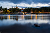After sunset (geirchristensen) Tags: river kongsberg lågen numedalslågen buskerud rock church norway water lights dusk riverside outdoor waterfront landscape