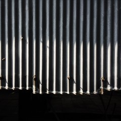 Corrugated (Peter.Bartlett) Tags: lightandshade contrast abstract urbanarte lunaphoto minimalist monochromatic square texture vsco cellphone mobilephone iphone5s workshop industrial