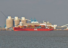 OOCL Belgium (HK) (Kay Bea Chisholm) Tags: wallasey egremontferry docks liverpool rivermersey containervessel belgium oocl