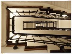 The Stairway to Heaven ? (kurtwolf303) Tags: treppenhaus stiegenhaus stufen olympusem1 omd microfourthirds micro43 topf25 indoor architektur architecture unlimitedphotos 250v10f topf50 topf75 500v20f systemcamera topf100 750views 800views 900views 1000v40f stairwell topf150
