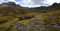 Lonely house in the wet meadow (supersky77) Tags: alpi alpes alps alpen orobie orobian lombardia lombardy lombardei lombardie aviasco passodaviasco prateria grassland prairie alpine alpina