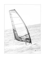 Riding the Wind and Waves (foxxyg2) Tags: surf sails boarding art mono monochrome bw sailboards sailboarding hk highkey mikrivigla cyclades aegean sea water waves sport naxos greece greekislands islandhopping islandlife