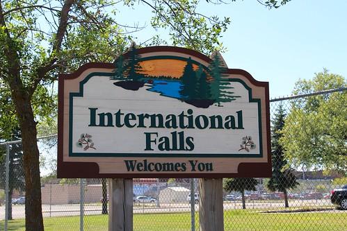 Entering International Falls