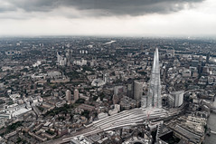 The shard from a helicopter over London (davidtclay) Tags: helicopter london aerial air city sky view
