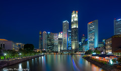 Downtown blue hour ,singapore (jaywu429) Tags: asia sony sonya7r singapore sky sonycamera singaporeriver skyline bluehour bluesky cityscape city buildings landscape lights sony1635mmf4 longexposure outdoor