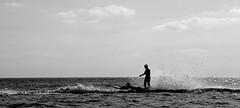 Sapore di sale / Taste of salt (Loredana Consoli) Tags: mare surfboard capovaticano sea liberty silhouette bw blackwhite spruzzi