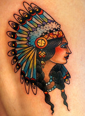 american native (MOLAIRE) Tags: portrait classic tattoo lady america apache native pages indian traditional profile feathers cologne kln oldschool american convention cherokee pigtails ccile cecile nantes headdress pags molaire