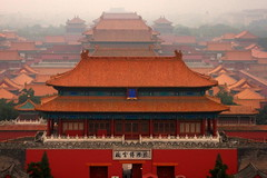 View of the Forbidden City  from Jingshan Park  (BenValjean) Tags: china park travel canon eos asia flickr beijing   forbiddencity dslr orient jingshan  500d   eos500d benjamingoodacre goodacrephotography
