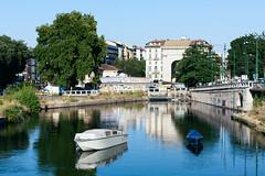 A Quiet Pair (FOBI7) Tags: milano barche navigli riflesso darsena todaysbest