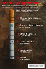 Death by Cigarettes [Infographic] (QuitForYourHealth) Tags: infographic quitsmoking