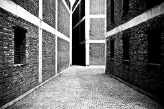 北京 - 草场地 (SinoLaZZeR) Tags: china architecture blackwhite fuji beijing explore architektur fujifilm 北京 中国 monochrom schwarzweiss modernarchitecture contemporaryarchitecture x100 caochangdi 草场地