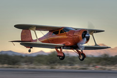 beechcraft model d17s staggerwing (MatthewPHX) Tags: arizona airport model nikon coolidge beechcraft municipal staggerwing d90 p08 d17s coolidgemunicipalairport modeld17s