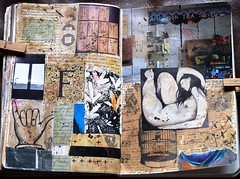 12 wtj F (LaWendeltreppe) Tags: art collages journal wtj