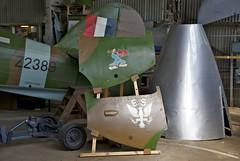 Hawker Hurricane IIA, Nose Art Panels, Brooklands Museum (Peter Cook UK) Tags: 1940 surrey restoration noseart brooklandsmuseum eaglesquadron z2389 hawkerhurricaneiia