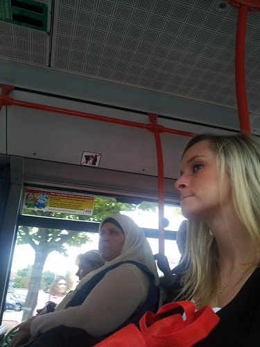 Sexy girl in bus