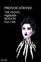 Come to my event! (Jenna Lee Mason) Tags: white black art boston poster design october paint gallery fineart portal showcase 2012 nighclub jennaleemason