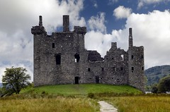 Kilchurn Castle, on an island in Loch Awe, Argyll, Scotland (Dragos Cosmin- Getty Images Artist) Tags: old travel sky cloud lake building tower castle history tourism rock wall architecture scotland construction ancient sandstone europe fort britain argyll stonework hill gray masonry hard ruin scottish dry sunny dungeon medieval structure glen highland shore keep strong british loch fortification awe campbell past stronghold fortress archeology idyllic scots solid drystone kilchurn