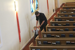 Day 251: Life and the Living (quinn.anya) Tags: church walking toddler aisle funeral pews presbyterian day251 525600minutes