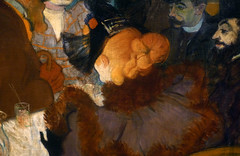 Toulouse-Lautrec, At the Moulin Rouge with detail of orange hair