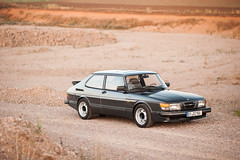 Saab 900 - new wheels (bennorz) Tags: steel 1987 wheels 1986 saab 900 aero spg hubcaps stahlfelgen widenened