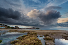 Stormy Skies Over Scarborough (mark_mullen) Tags: uk sea england seascape storm english beach weather clouds reflections landscape scenery rocks day moody britain tide northsea british scarborough southbay stormysky slipway northyorkshire eastcoast canon1740f4 scarboroughspa canon5dmk3 mygearandme markmullenphotography