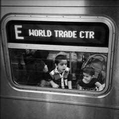"""Never Forget"" (Sion Fullana) Tags: nyc newyorkcity blackandwhite bw newyork blancoynegro childhood america subway children square worldtradecenter 911 streetphotography etrain squareformat innocence neverforget allrightsreserved hopeful newyorksubway urbannewyork subwaywindow"