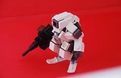 Tundra Reconaissance Suit (Mags) Tags: white black colors robot gun lego arctic suit fi sci mecha bot mech moc drone hardsuit