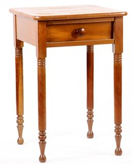 7. Turned Leg Antique Work Table