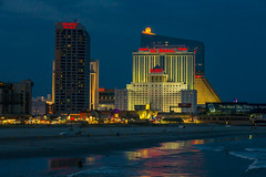Atlantic City Boardwalk (Bill Varney) Tags: ocean reflection beach water night canon lights tajmahal resort empire atlanticcity boardwalk trumps atlanticpalace photobybillvarney