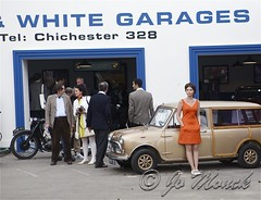 Mini Skirt and Car (Jo Monck Photography) Tags: cars sports fashion vintage army uniform navy racing tesco cricket 1940s 1950s minicooper 1960s lipstick airforce raf 2012 revival goodwoodrevival