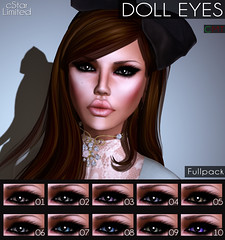 cStar Limited - Doll Eyes (cStar Skins Limited) Tags: bigeyes glasseyes animeeyes cuteeyes dolleyes sexyeyes neweyes fakeeyes coloredeyes shinyeyes cstar realisticeyes naturaleyes cstarskins dollyeyes barbieeyes cstarlimited cstareyes porcelindolleyes porcelineyes playdolleyes