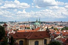 Prague's rooftops (dorochina) Tags: city roof red house building castle rooftop europe republic view czech prague royal mala strana