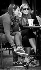 Don't Look Now! (Neil. Moralee) Tags: bw white black love coffee monochrome look cafe women pair culture somerset dont starbucks mocha hate late expresso nero comment taunton americano sneak girle gase neilmoralee