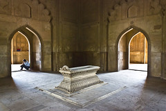 Grave of Safdarjung. (AnkurDauneria) Tags: red reflection art grave stone wall architecture canon garden landscape eos prime persian site asia interior muslim tomb mausoleum efs minister ceilling marbel subcontinent mughal historicindia 550d safdarjung apsc mughalstyleofarchitecture
