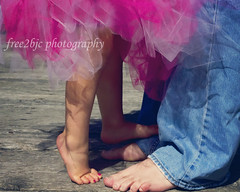 <3 (Free2bJ.C.Photos) Tags: family feet daddy toes daughter emma jeans billy dada tutu allrightsreserved pinktoenails