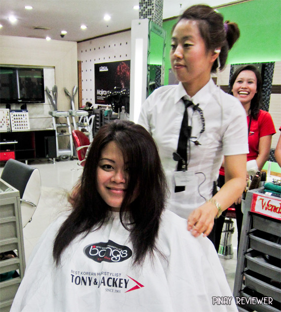 Getting a haircut with Wendy at Bang's Tony & Jackey in SM Annex