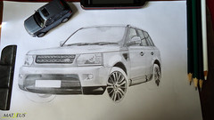 Amateur drawing - Range Rover Sport (80% complete) (Matheus_Loureno) Tags: drawing rover landrover range rangerover rangeroversport