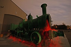 Locomotive 1042 Steamfest Rally Ground Maitland (therealpetesmith) Tags: lightpainting abcopen:project=nat2