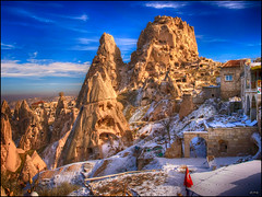 (1515) hisar (QuimG) Tags: paisajes turkey geotagged golden landscapes olympus cappadocia gettyimages turqua paisatges specialtouch quimg hisar ankiri quimgranell joaquimgranell afcastell obresdart aabeyky