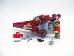 GSF-42c Seraph and Sigfig (peterlmorris) Tags: toy star fighter lego minifig moc starfighter legoadventurebook